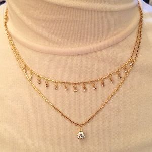 Avon Vintage Rhinestone Delicate Layered Necklace